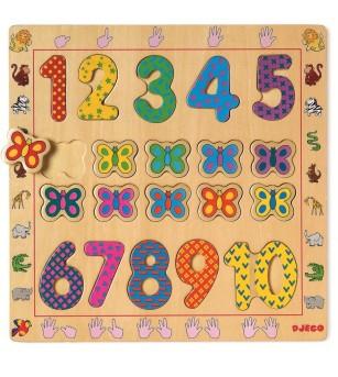 Puzzle din lemn Djeco- Cifre - Puzzle-uri
