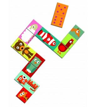 Domino animo puzzle Djeco - Jucării logică