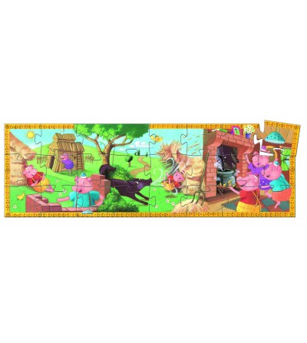 Puzzle Djeco - Cei 3 purcelusi - Puzzle-uri