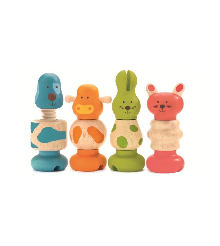 Jucărie motorică Animale cu șurub Djeco