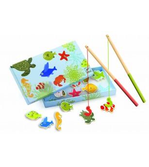 Joc de pescuit magnetic pesti tropicali Djeco - Jucării de lemn si Montessori