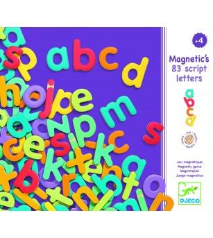 83 Litere magnetice colorate pentru copii- Djeco - Jucarii magnetice