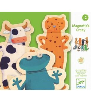 Joc cu magneti Djeco Animale- amuzante - Jucarii magnetice