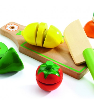 Fructe si legume de feliat Djeco - Jucării de lemn si Montessori