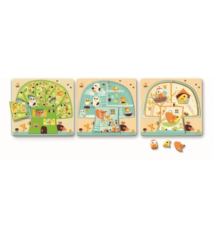 Puzzle lemn copacul Djeco - Puzzle-uri