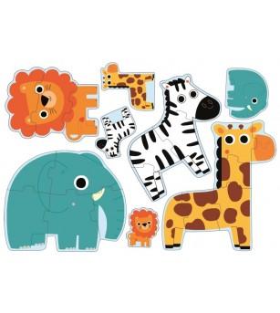 Puzzle progresiv Djeco, in jungla - Puzzle-uri