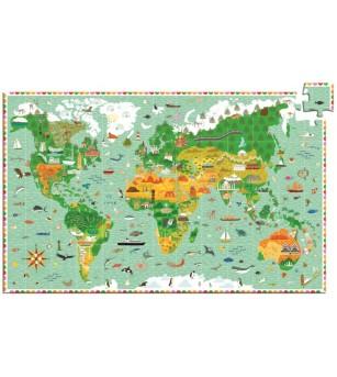 Puzzle observatie Djeco in jurul lumii - Puzzle-uri