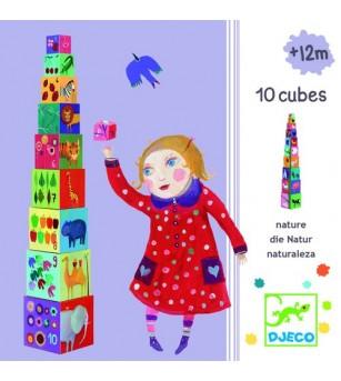 Turn de construit Djeco Natura - Jucării bebeluși
