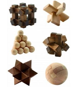 Woodix 6 jocuri logice din lemn - Jucării logică