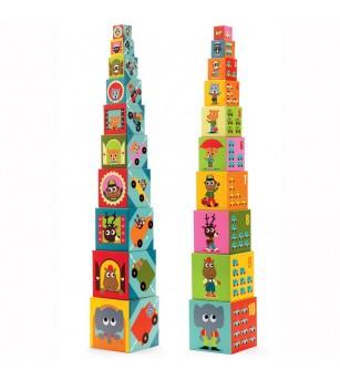 Turn de construit Djeco Masini - Jucării de lemn si Montessori