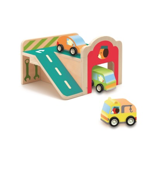 Mini garaj Djeco - Jucării de lemn si Montessori