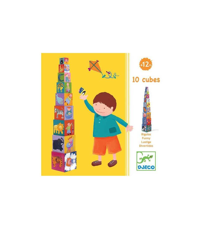 Turn de construit Djeco Scara - Jucării bebeluși