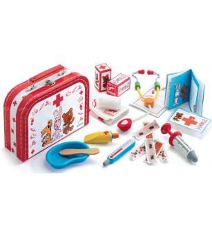 Trusa de doctor Djeco - Jucării de lemn si Montessori