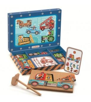 Vehicule de asamblat Tap Tap Djeco - Jucării creativ-educative