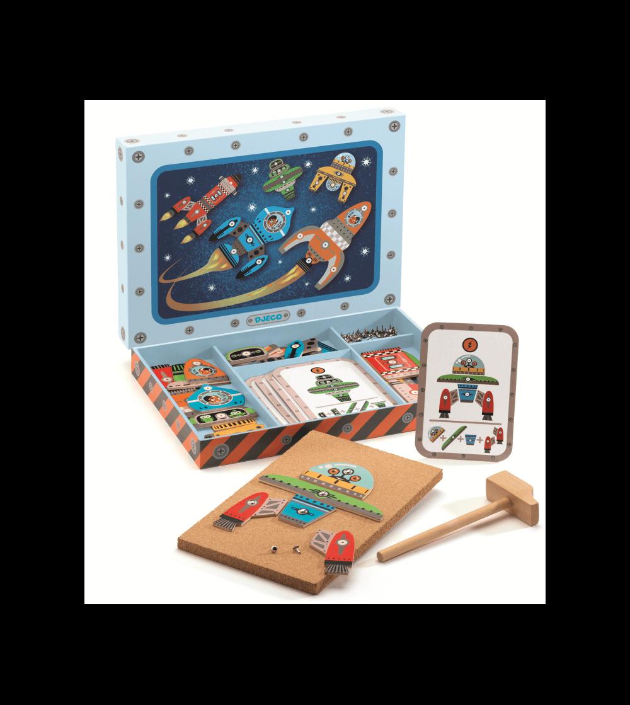 Joc de asamblat Djeco Tap Tap - Nave spatiale