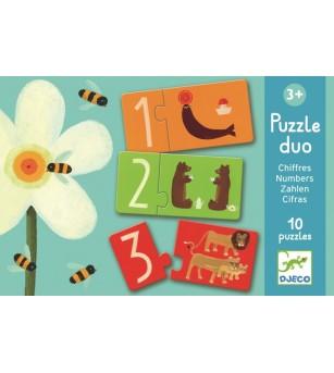Puzzle duo Djeco Numere - Puzzle-uri