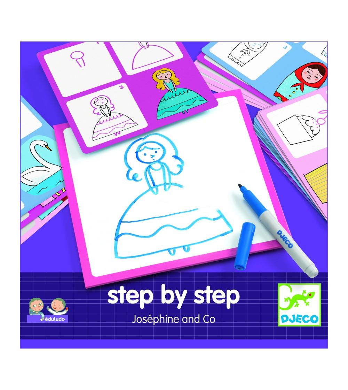 Deseneaza pas cu pas, pentru fete - Desen și pictură