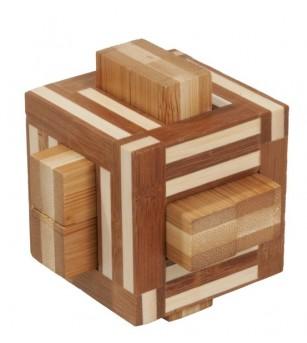 Joc logic IQ din lemn bambus Double sticks - Jucării logică