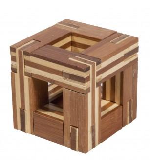 Joc logic IQ din lemn bambus Magic frame - Jucării logică