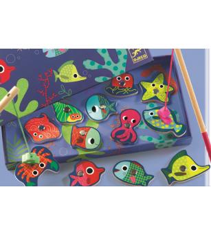Joc de pescuit magnetic peşti colorați Djeco