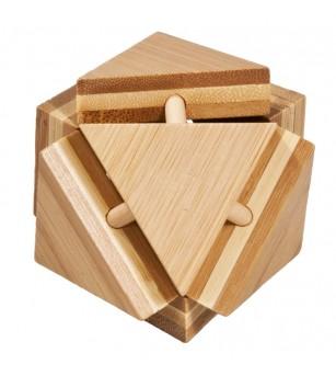 Joc logic IQ din lemn bambus Triangleblock - Jucării logică