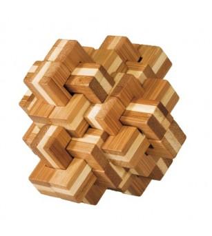Joc logic IQ din lemn bambus - Ananas 3D