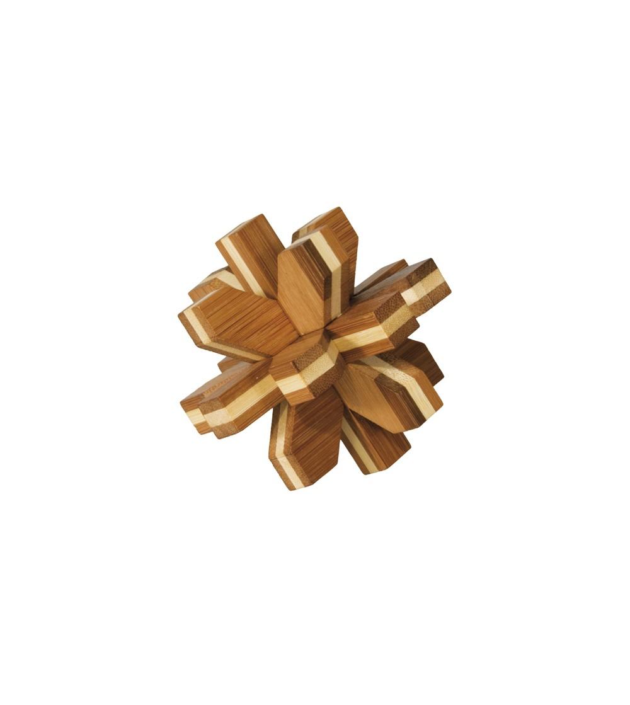 Joc logic IQ din lemn de bambus Cristal 3D - Jucării logică