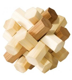 Joc logic IQ din lemn bambus Double Knot - Jucării logică