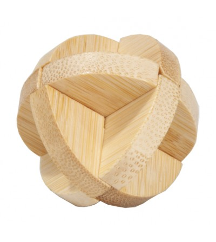 Joc logic IQ din lemn bambus în cutie metalică-3