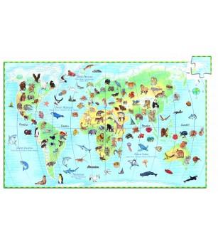 Puzzle observatie Djeco Animalele lumii - Puzzle-uri