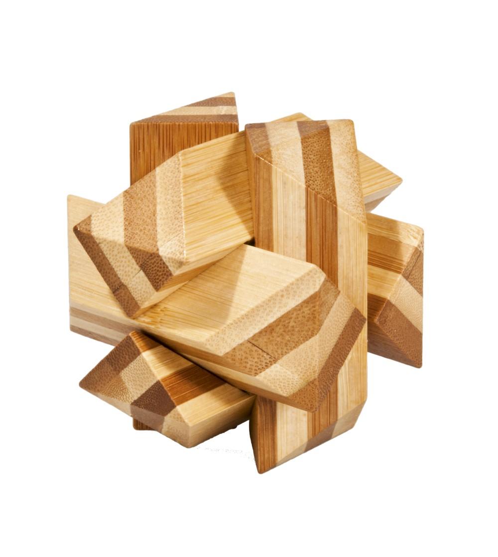 Joc logic IQ din lemn bambus Angular Knot - Jucării logică