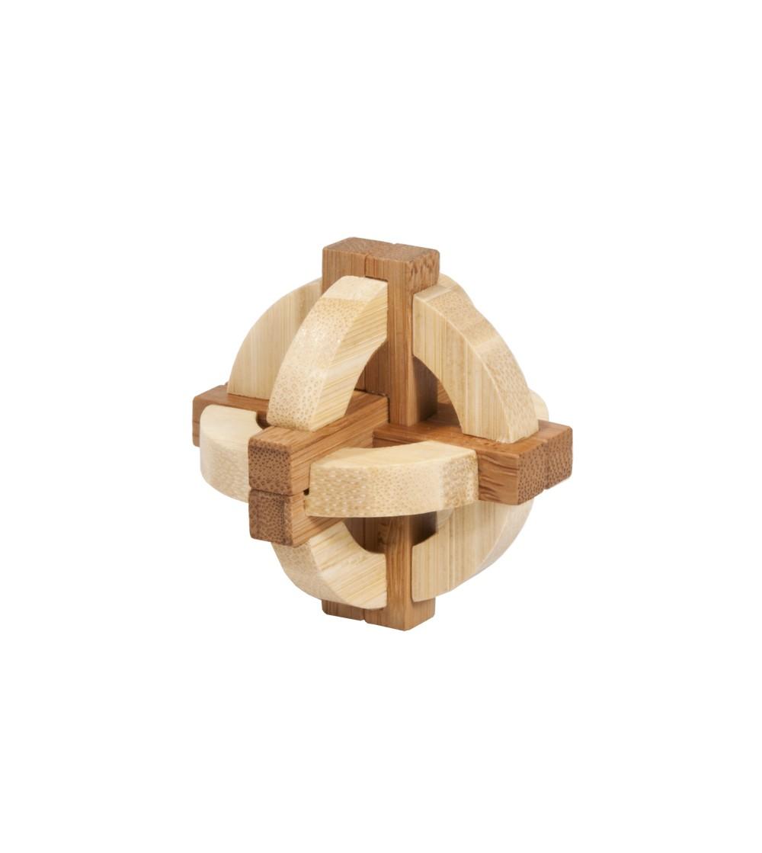 Joc logic IQ din lemn bambus in cutie metalica-1 - Jucării logică