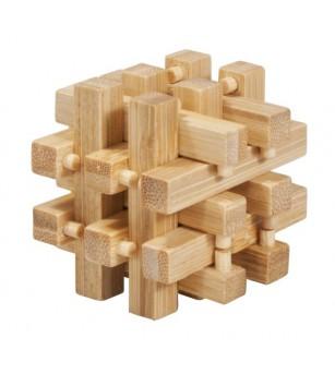 Joc logic IQ din lemn bambus in cutie metalica-2 - Jucării logică