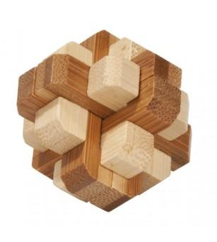 Joc logic IQ din lemn bambus in cutie metalica-4 - Jucării logică