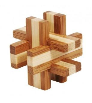 Joc logic IQ din lemn bambus în cutie metalică-6