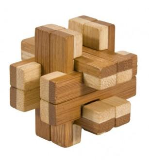 Joc logic IQ din lemn bambus în cutie metalică-8