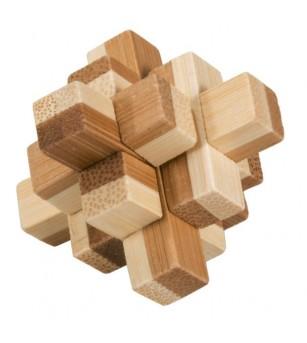 Joc logic IQ din lemn bambus in cutie metalica-9 - Logică