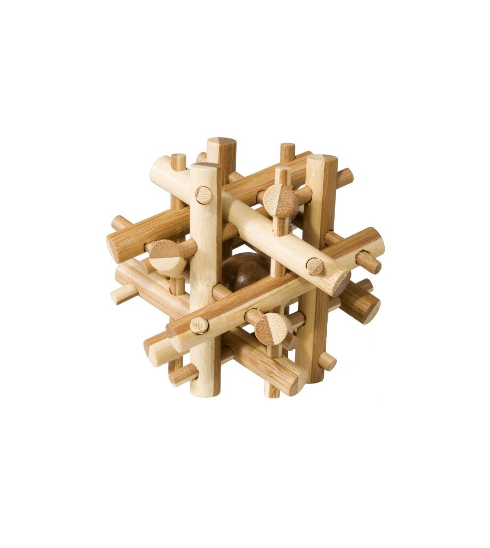 Joc logic IQ din lemn bambus Magic sticks - Jucării logică