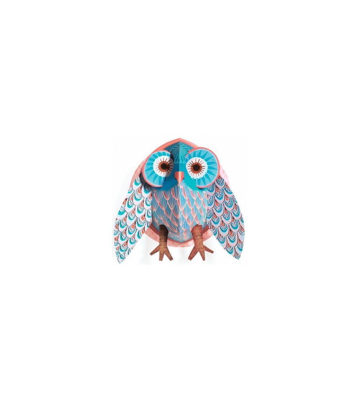 Decoratie pop-up Bufnita colorata - Decorațiuni camera copilului