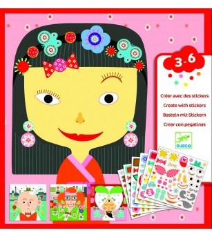 Joc creativ creeaza portrete Djeco - Lucru manual