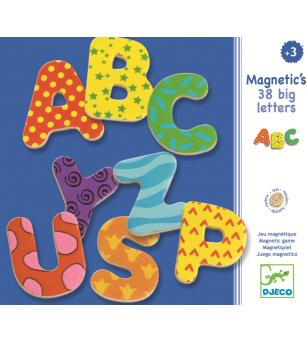 38 Litere magnetice colorate pentru copii - Jucării limbaj
