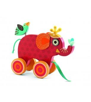 Jucarie de tras elefantul Indy - Jucării de tras și împins
