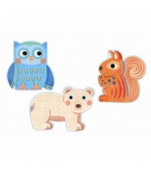 Set Puzzle-uri evolutive Djeco animale - Puzzle-uri