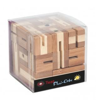 Joc logic puzzle 3D din bambus - Flexi-cub - Logică