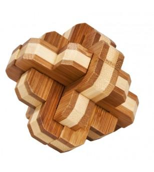 Joc logic IQ din lemn bambus 3D Round Knot - Jucării logică