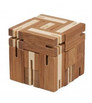 Joc logic puzzle 3D din bambus - Flexi-cub