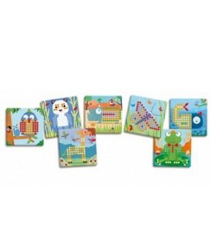 Mosaic rigolo Djeco - Jucării creativ-educative