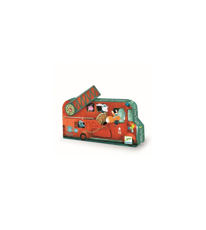 Puzzle Djeco - Masina de pompieri - Puzzle-uri