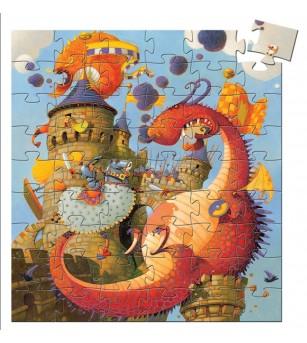Puzzle Djeco Cavalerul si Dragonul - Puzzle-uri