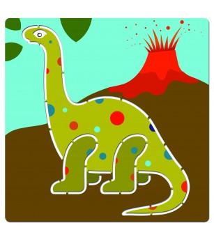 Sabloane Djeco Dinozauri - Desen și pictură